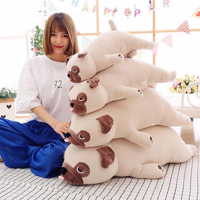 Cute Pug Dog Plush Doll Soft Cotton Lying Dog Stuffed Animal Plush Toy Children's Birthday Gift