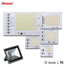 Akıllı IC LED Lamba AC 220 V 90 W 50 W 30 W 20 W 10 W Yüksek Lümen SMD 5730 COB Çip Sürücü Ile LED Projektör Açık Sokak Spot