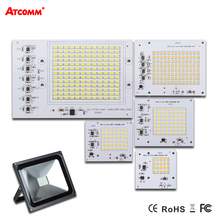 Smart IC LED Lamp AC 220 V 90 W 50 W 30 W 20 W 10 W Hoge Lumen SMD 5730 COB Chip Met Driver LED Schijnwerper Outdoor Straat Spotlight