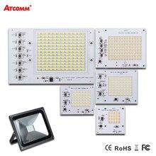 Thông minh IC Đèn LED AC 220 V 90 Wát 50 Wát 30 Wát 20 Wát 10 Wát Cao Lumen SMD 5730 COB Chip Với Điều Khiển LED Đèn Pha Ngoài Trời Đường Phố Spotlight