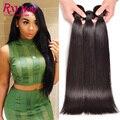 Rxy reta 8a cabelo brasileiro cabelo weave bundles brasileiro virgem cabelo liso 3 bundles não transformados virgem cabelo liso brasileira