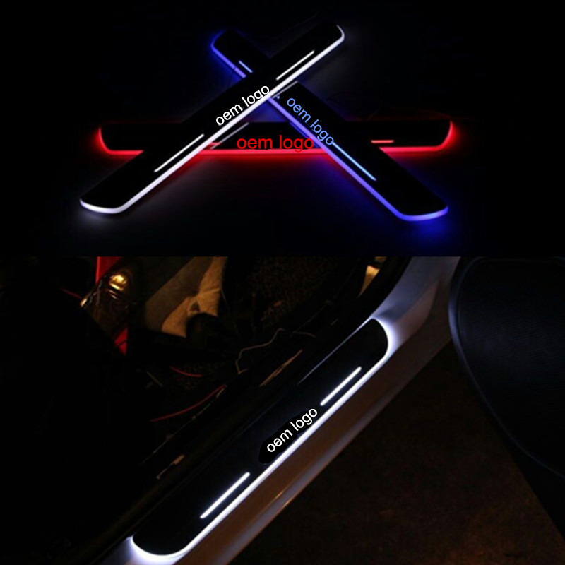 LED door scuff plate light for Mazda CX-5 2013-2014 LED moving door scuff for Mazda CX-5 led door sill plate light pedal light