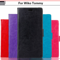 EiiMoo Bag Phone Case For Wiko Tommy Case 5 0 Inch Luxury Pure Stand Card PU