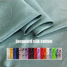 Tecido de seda chinês jacquard seda charmeuse crepe tissu 100cm * 114cm