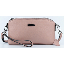 New Arrivals Double Zipper Compartment Large Capacity Woman Handbags 2018 Hot Genuine Leather Women Messenger Bags High Quality