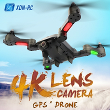 купить X-328 Brushless FPV RC Helicopter 1080P HD Camera With Double GPS FOLLOW RC Quadcopter Foldable Selfie Micro Drone Professional дешево
