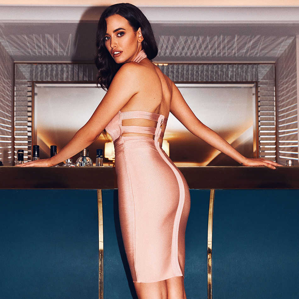 Seamyla 2019 Новое Женское Бандажное Элегантное платье без рукавов облегающее Клубное вечернее платье Vestidos с открытой спиной сексуальное платье для подиума