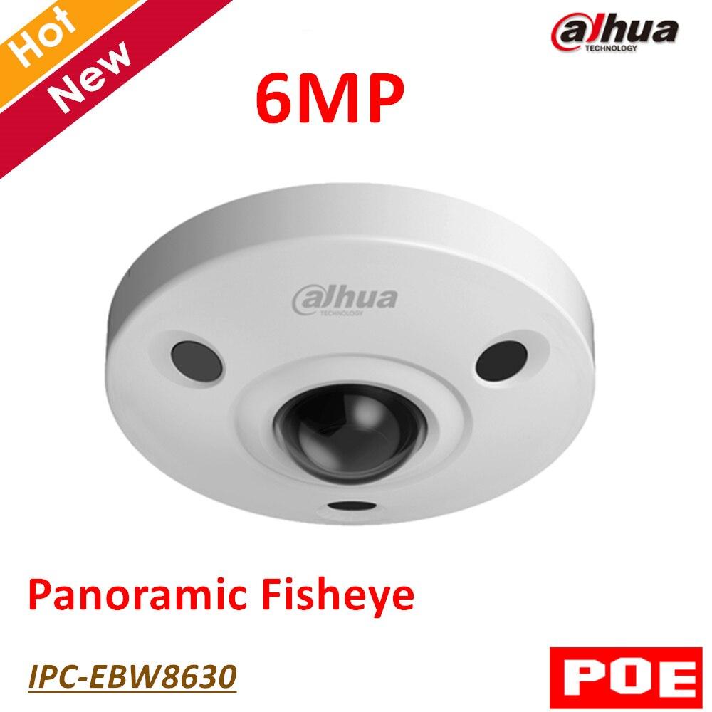 English version Dahua 6MP IP Camera IPC-EBW8630 with Poe Panoramic IR Fisheye Survillance Camera H.265 Support sd card 128G монитор состава тела omron bf214 hbf 214 ebw
