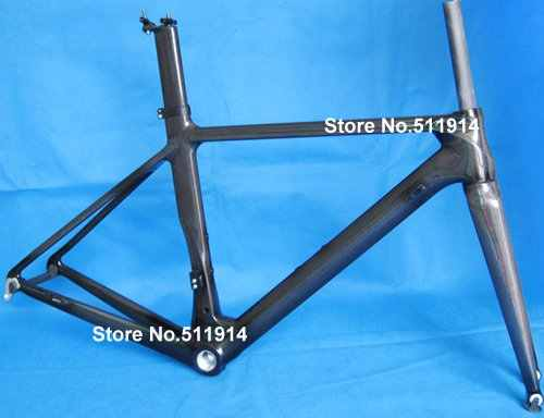 FLX-FR-315 nuevo carbono completo 3 K bicicleta de carretera marco horquilla tija Framset (BB30)