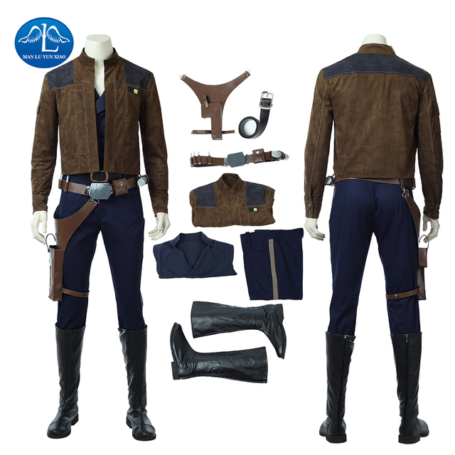 2018 Movie Solo: A Star Wars Story Cosplay Costume Men Han Solo Cosplay Costume Halloween Costumes For Men Full Set Custom Made