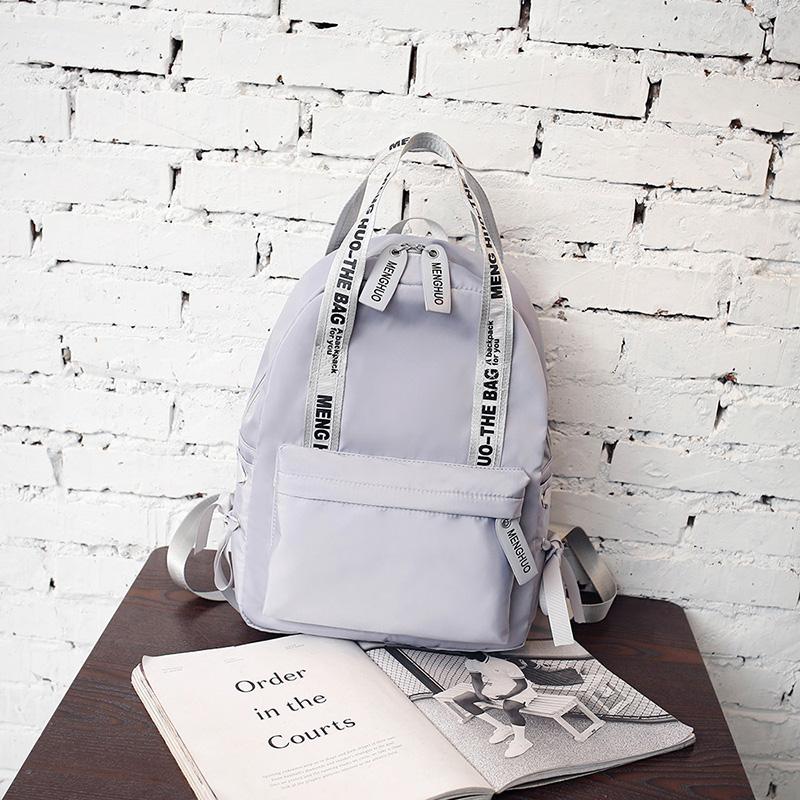Menghuo Large Capacity Backpack Women Preppy School Bags For Teenagers Female Nylon Travel Bags Girls Bowknot Backpack Mochilas (52)