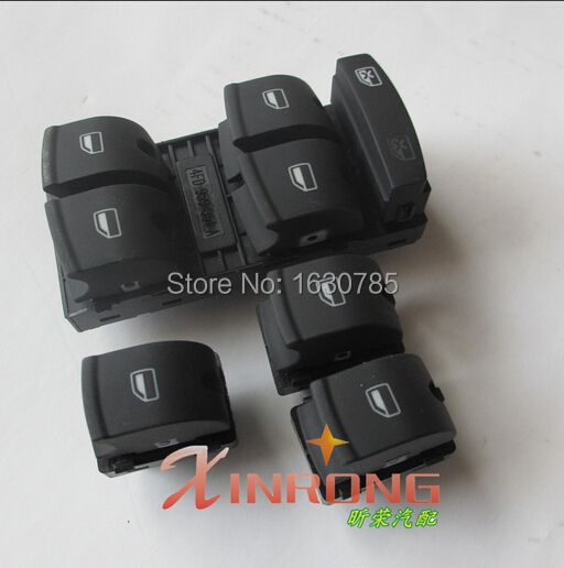 4Pcs   Electric Master Window Switch  BUTTON  For AUDI A3 A6 S6 C6 Allroad Q7 RS6