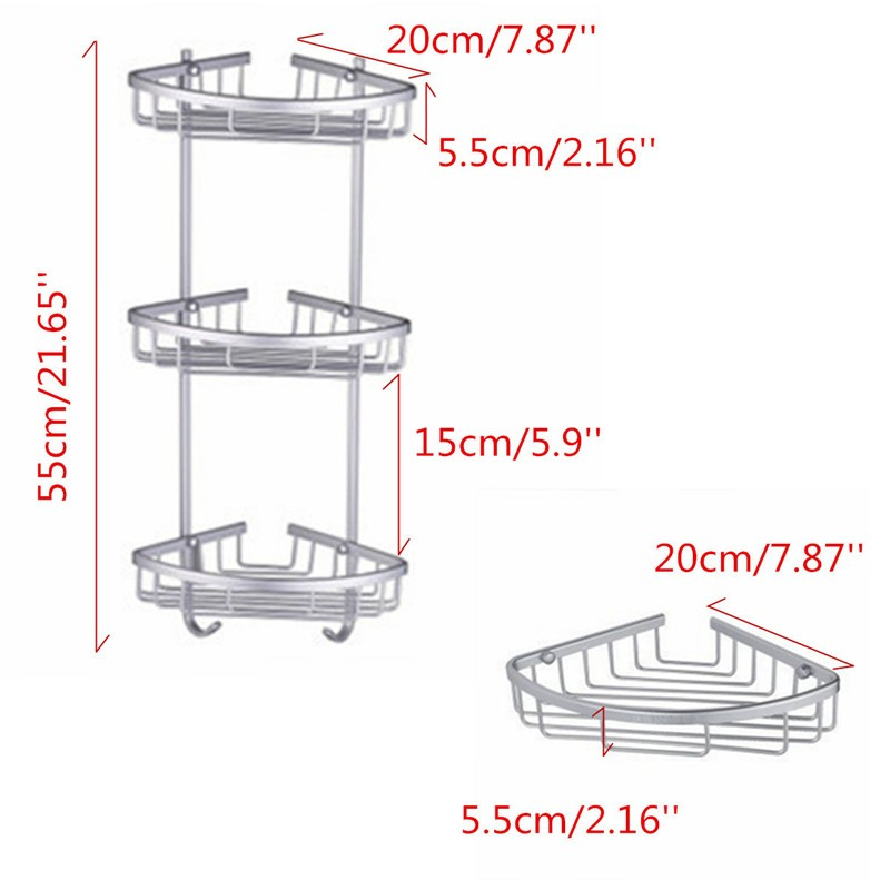 Lowest Price Triangular Aluminium Hanging Triangular Bathroom Shower ...