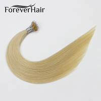 FOREVER HAIR 0.8g/s 16 18 20 Remy Micro Ring Beads Human Hair Extensions Blonde #22 European Pre Bonded Nano Ring Extensions