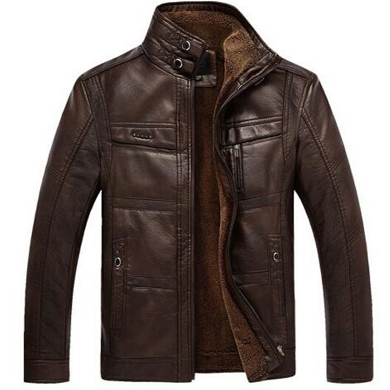 Mountainskin Leather Jacket Men Coats 5XL Brand High Quality PU Outerwear Men Business Winter Faux Fur Male Jacket Fleece