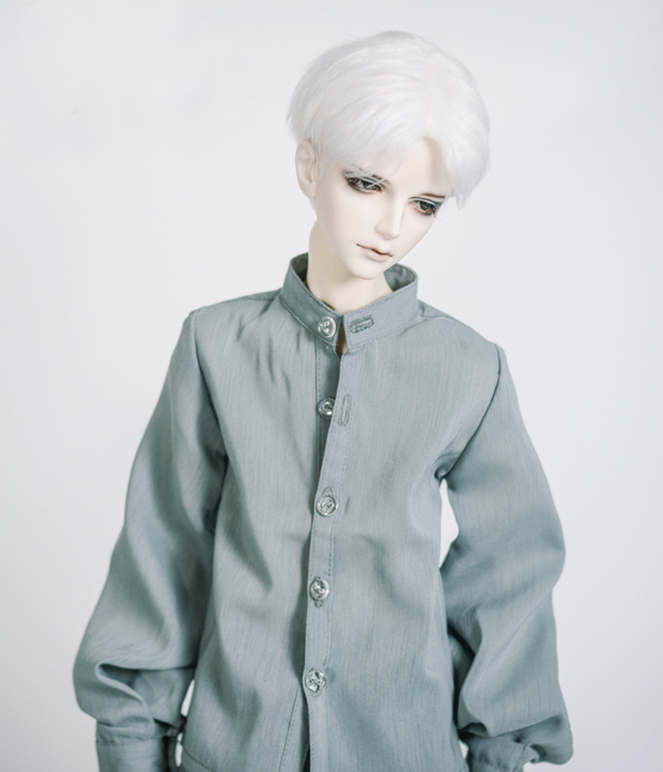New Uncle 1/3 1/4 BOY Girl BJD SD MSD Doll Clothes lantern sleeve Stand collar Shirt new handsome fashion stripe black gray coat pants uncle 1 3 1 4 boy sd10 girl bjd doll sd msd clothes