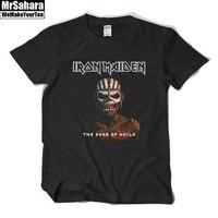 Iron Maiden T Shirt Book Of Souls Short Sleeve Band T Shirt Rock Heavy Metal Music