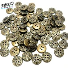 12MM 50PCS/Package Plastic Plating Buttons 4 Holes Apparel Sewing Accessories DIY Crafts