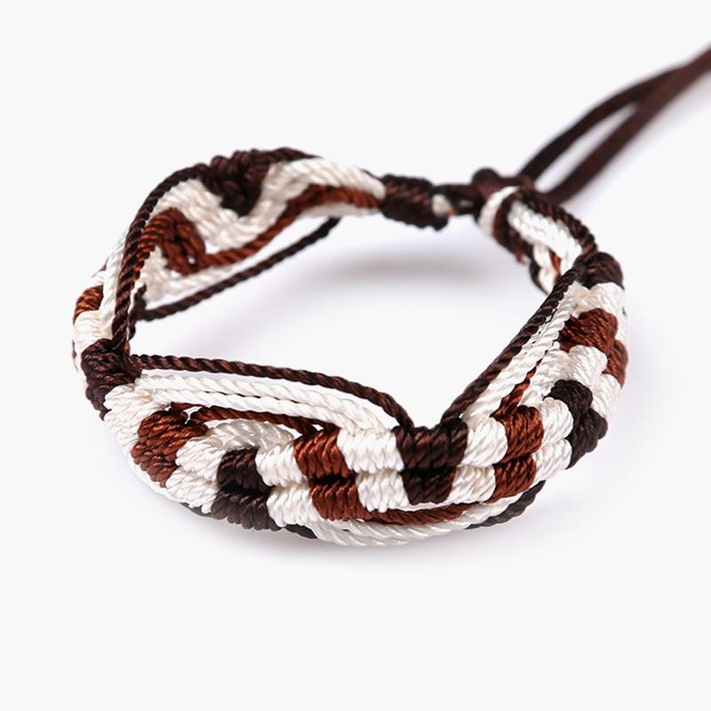 Cheap brazilian bracelet multicolor braided boho chain bohemian tassel handmade sport chain friendship bracelets brown unisex 3
