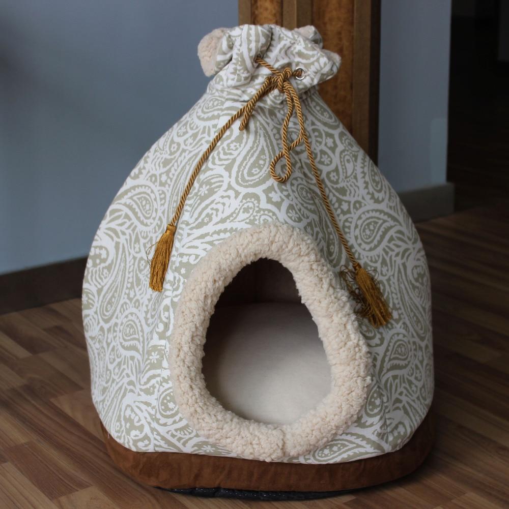 Vezo casa rectángulo coral polar cat dog pet camas pads cojín productos cachorro