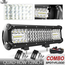 CO LIGHT 264W Super Bright 4-Rows Led Bar Spot Flood Beam 16D 12
