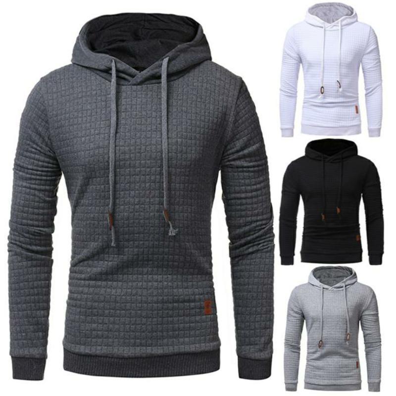 Drop Shipping Hoodie Mens Long Sleeve Solid Color Hooded Sweatshirt Mens Hooded Sportswear Sweat Jacket Casual Sportswear M-3X