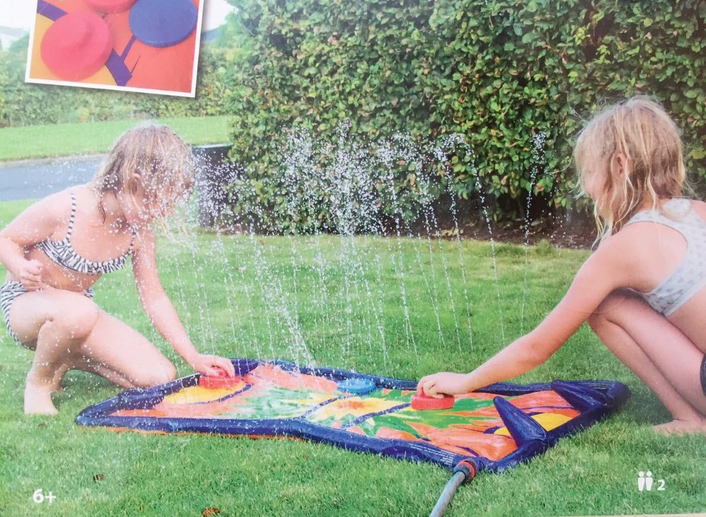 Back Yard Water Toys and Sprinklers  Inflatable Water Spray Mat for Kids