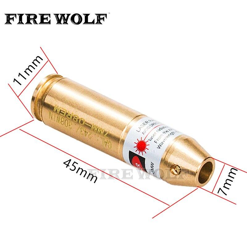 FIRE WOLF Hunting Boresighter Tactical Cal .308 .243 Cartridge Red Dot Laser Boresighter Rifles/Gun 308 243 Caliber Bore Sighter
