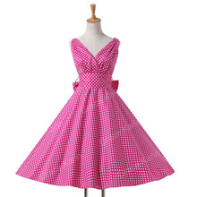 Womens summer dresses 2016 summer plus size Maggie Tang 50s Vintage Retro robe vestidos Pin up Swing Polka Dot Rockabilly Dress