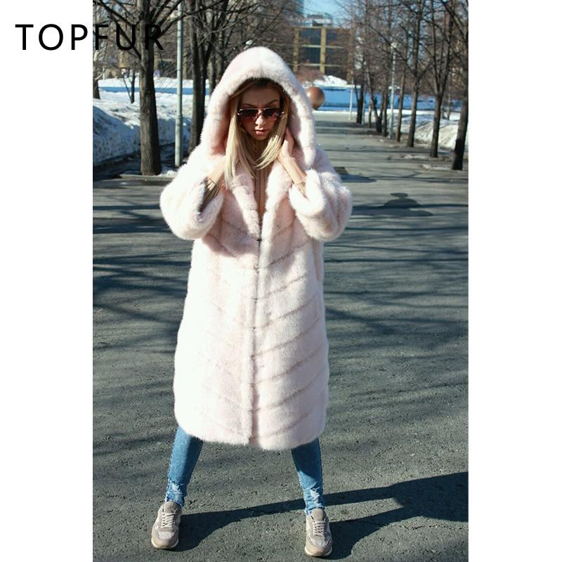 Réel Rex Manteau De Capuchon Lapin Style Femmes Outwear Luxe Avec Naturel D'hiver 2018 Nouveau Fourrure Topfur 8IpSt