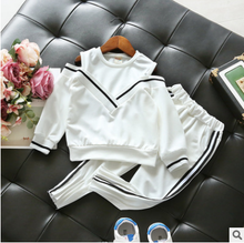 Mihkalev kids clothings sets 2018 spring children 2PCS sport suit long sleeve tops+pants girl clothes set baby tracksuit outfits