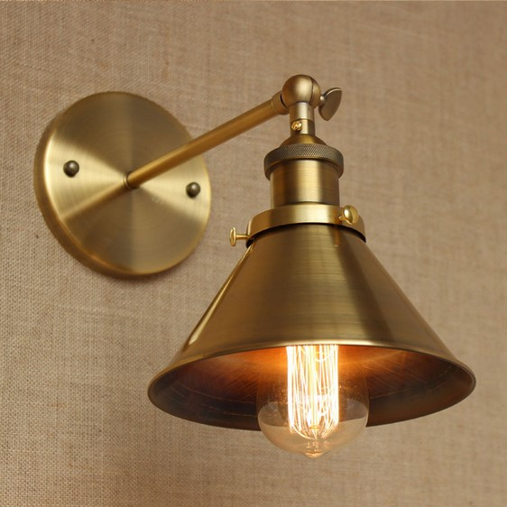 Wrount Iron Brass Vintage Wall Lamp Light For Cafe Room Edison Wall Sconce Arandela In A ...