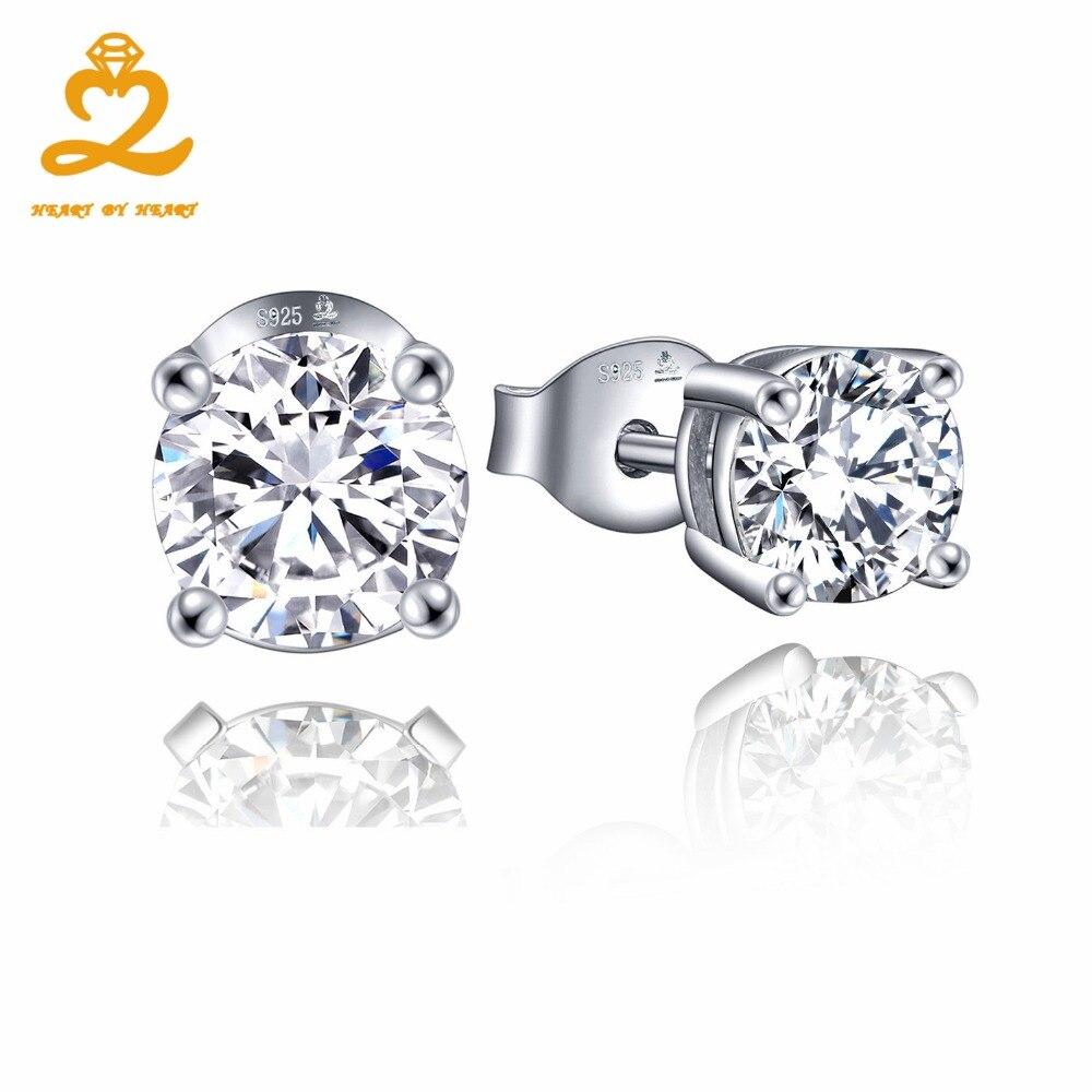 925 sterling-silver-jewelry wholesale earrings for women girls wedding engagement rhinestones cubic zirconia 2016 new