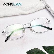 купить Pure titanium Optical Glasses Frame Ultralight Design Men Women Myopia Optics Eyewear Clear Lens Gafas Goggles по цене 1953.94 рублей