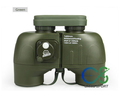new arrival 7x50 green binoculars Outdoor tactical Telescope for Hunting gs3-0044 bresee high powered telescope hd 7x50 binoculars for hunting and outdoor adventure