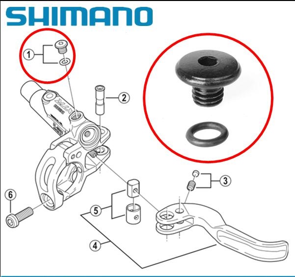 "Shimano XT BL-M8000 SLX BL-M7000 Brake Lever Bleed Screw O-ring /""B/"" XTR BL-M9020"