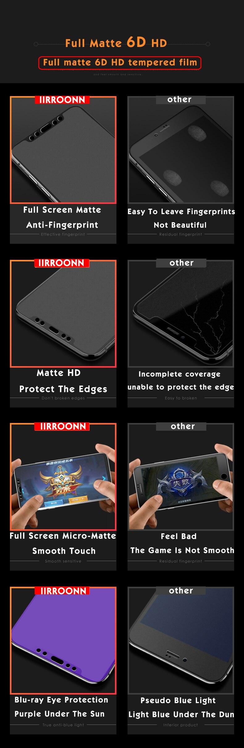 Matowy ochraniacz ekranu dla Huawei honor 9 lite szkło hartowane dla honor 9 lite 10 folia ochronna szkło na honor 9 lite IIRROONN 1