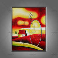 Pura dipinto a mano dipinti famosi Mondo dei sogni pittura astratta figura ad olio su tela Cubismo Modernismo Wall Art