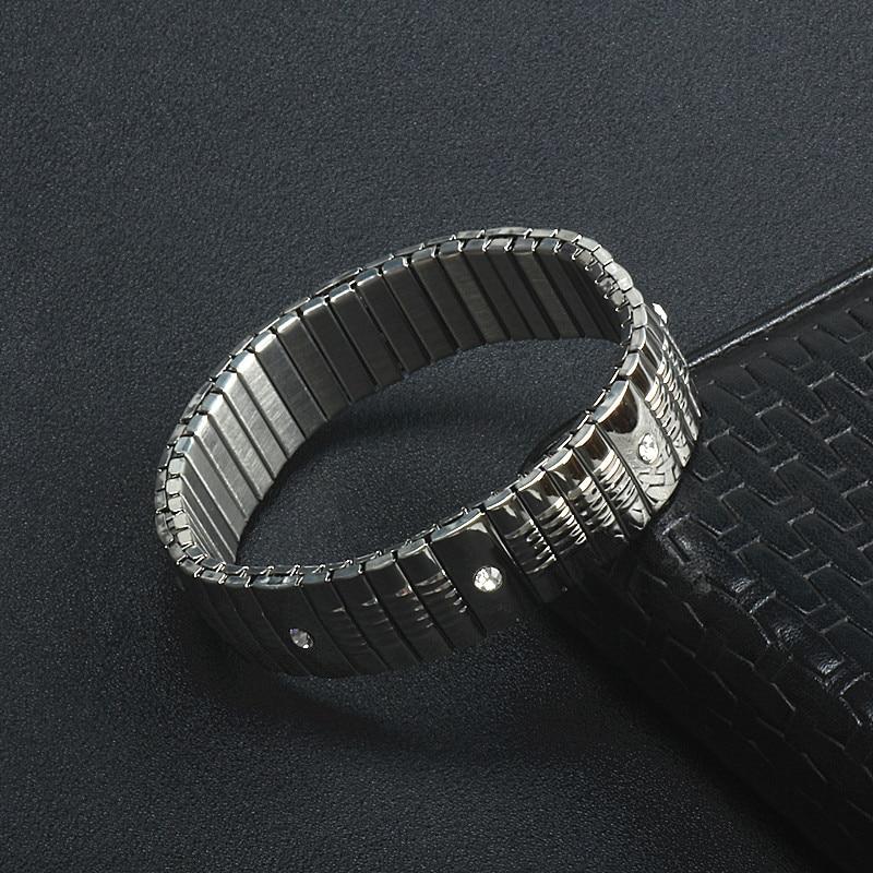 Bracelets For Women Men Bangle Stainless Steel Bracelet 2018 Hot Fashion Elastic Silver Color Bangles Jewelry