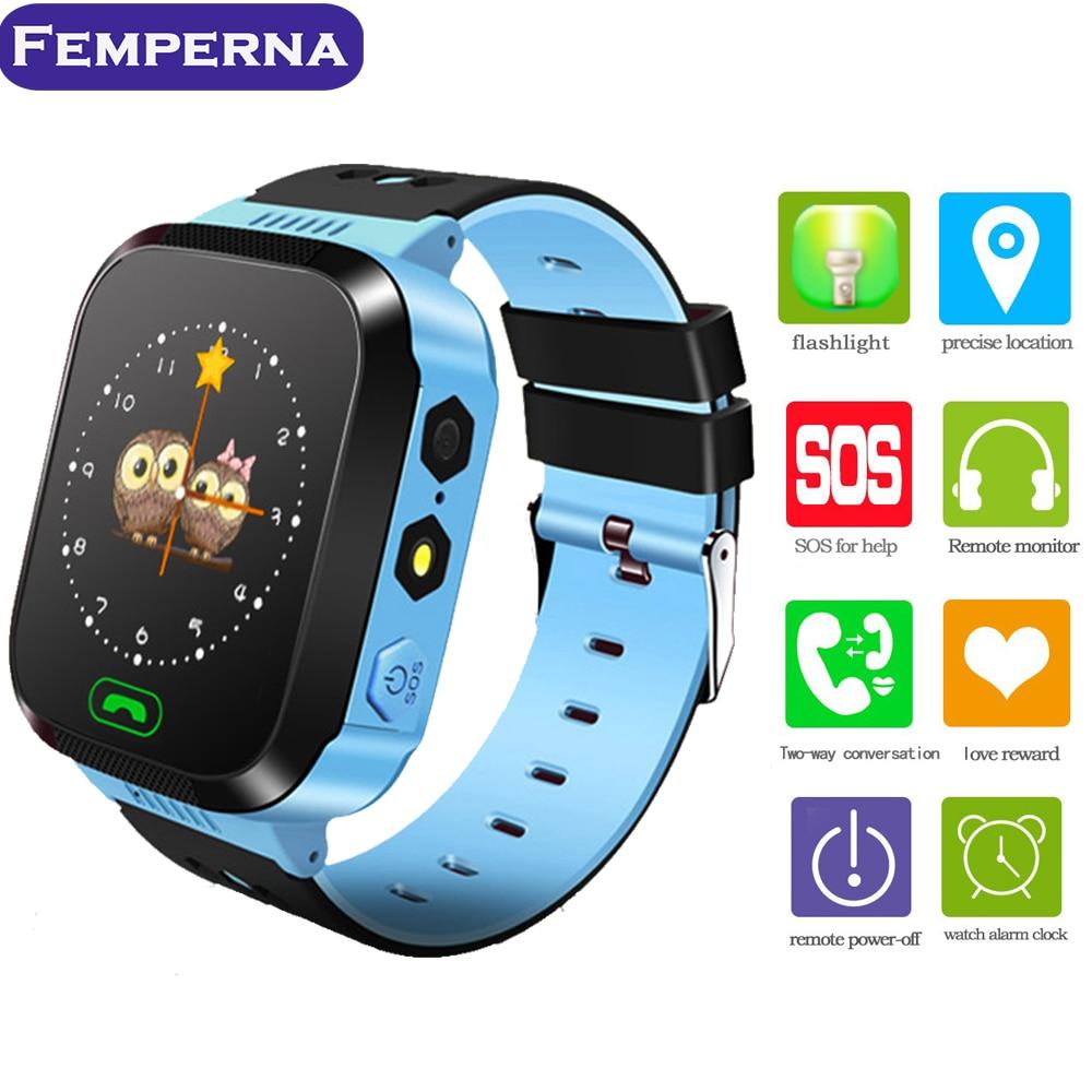 Femperna q528 смарт-детские часы Сенсорный экран 2 г/м² GPS локатор трекер анти-потерянный фонарик SOS для SmartWatch для android IOS