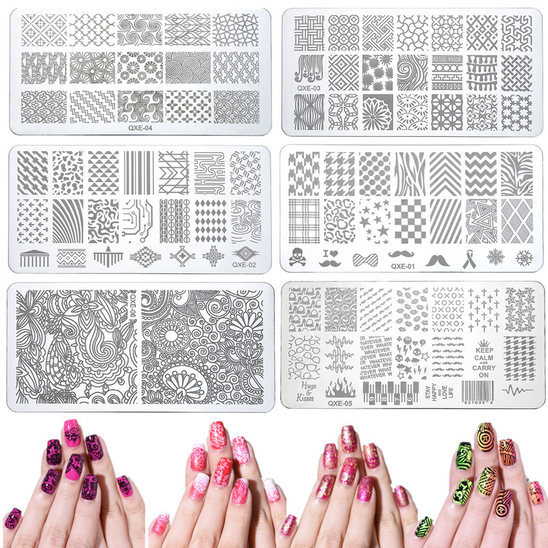 Elecool 1 Pcs Diy Styling Tools 2 Stylestemplate Beauty Stencil Manicure Unicorn Nail Art Print Stamping Plates Nail Tool Nails Art & Tools