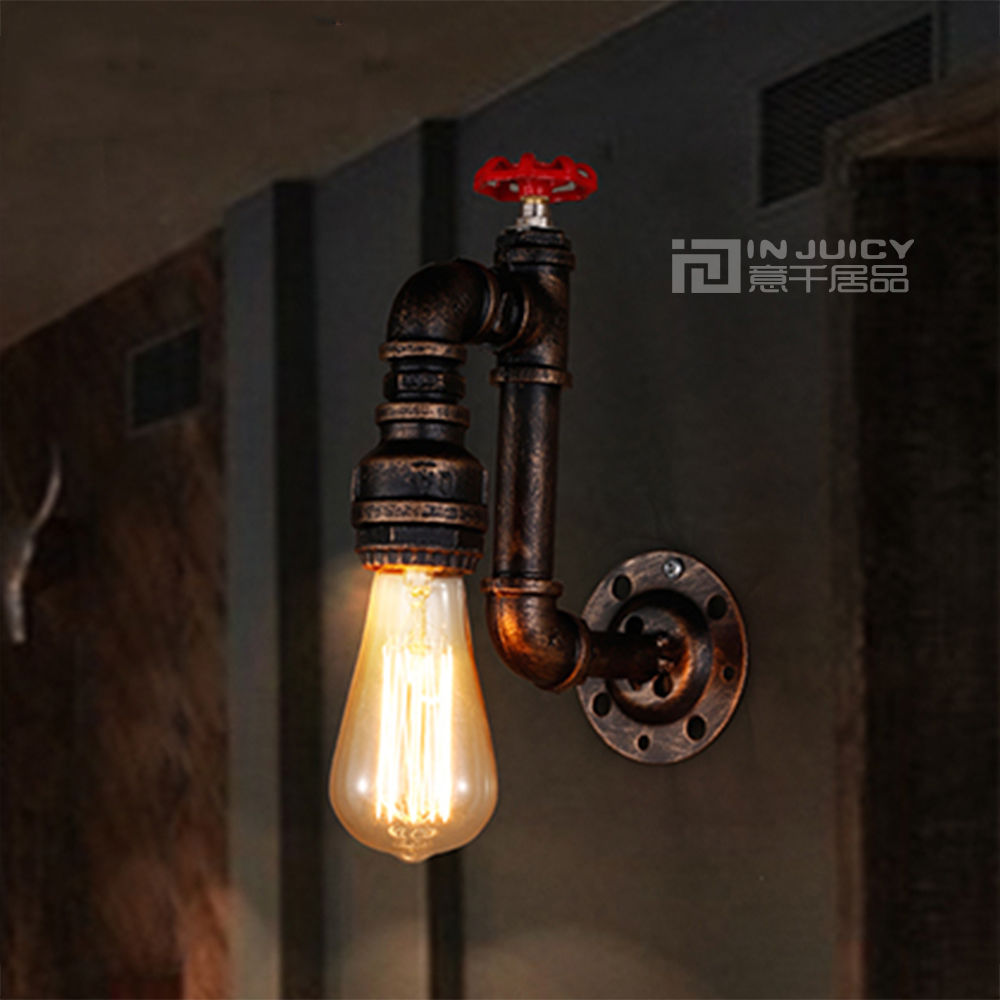 №Vintage Retro Industrial Led Water Pipe Pipe Sconces Wall