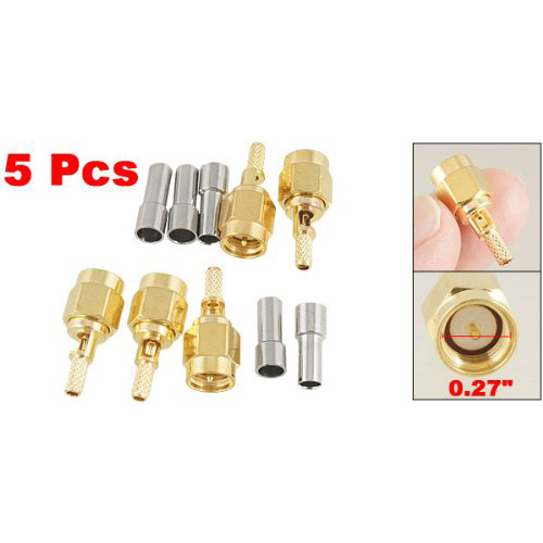 Promotion New 5 x SMA Male Straight Crimp RG174 RG188 RG316 LMR100 RF Coax Connector dhl ems 2 lots 100pcs connector sma male plug crimp rg174 rg316 lmr100 cable straight d2