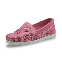 Girls Breathable Soft Leather Loafer