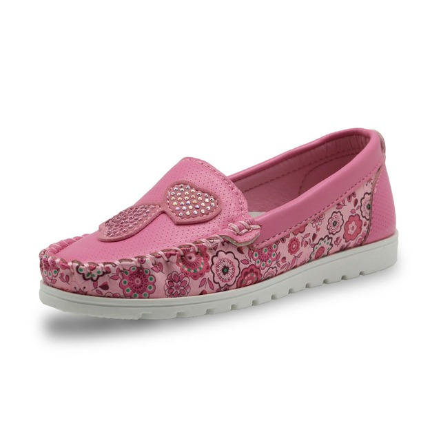Apakowa Girls Soft Leather Loafer Children Girls Casual Shoes Breathable  Sneakers For Kids Girls Flats Toddler Little Kids