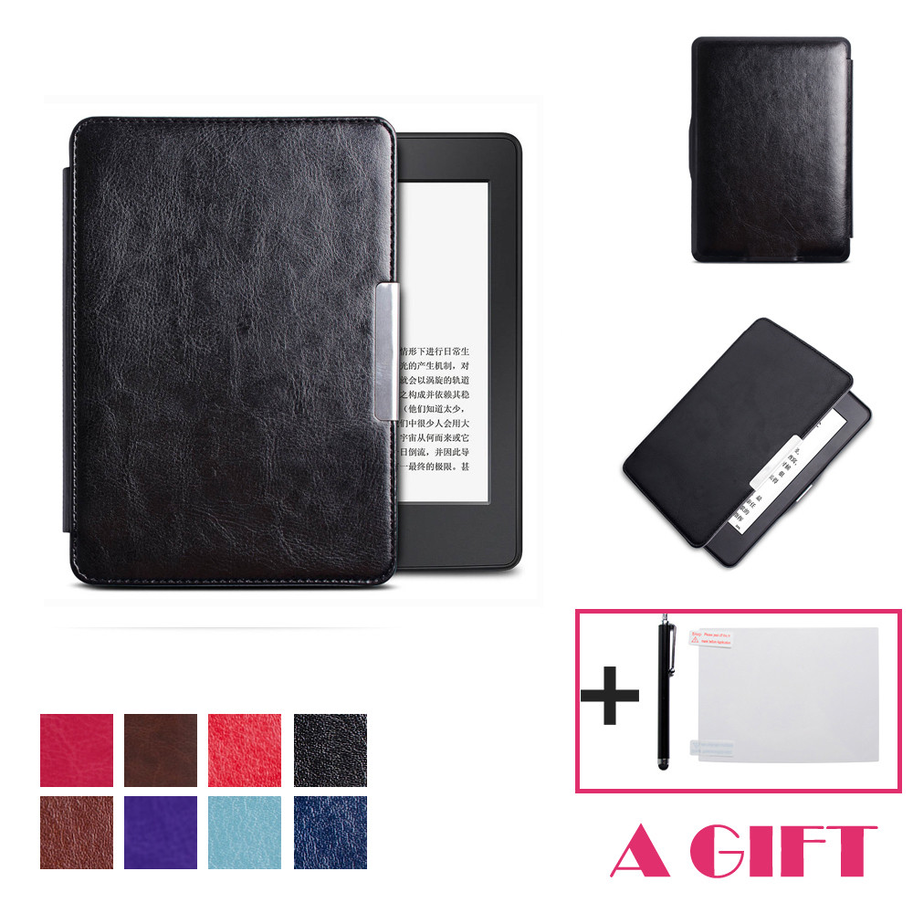 U Magnetic Auto Sleep PU Leather Cover Case For 2016 Kindle Paperwhite (7th Generation) 6 inch +Free Gift N0224