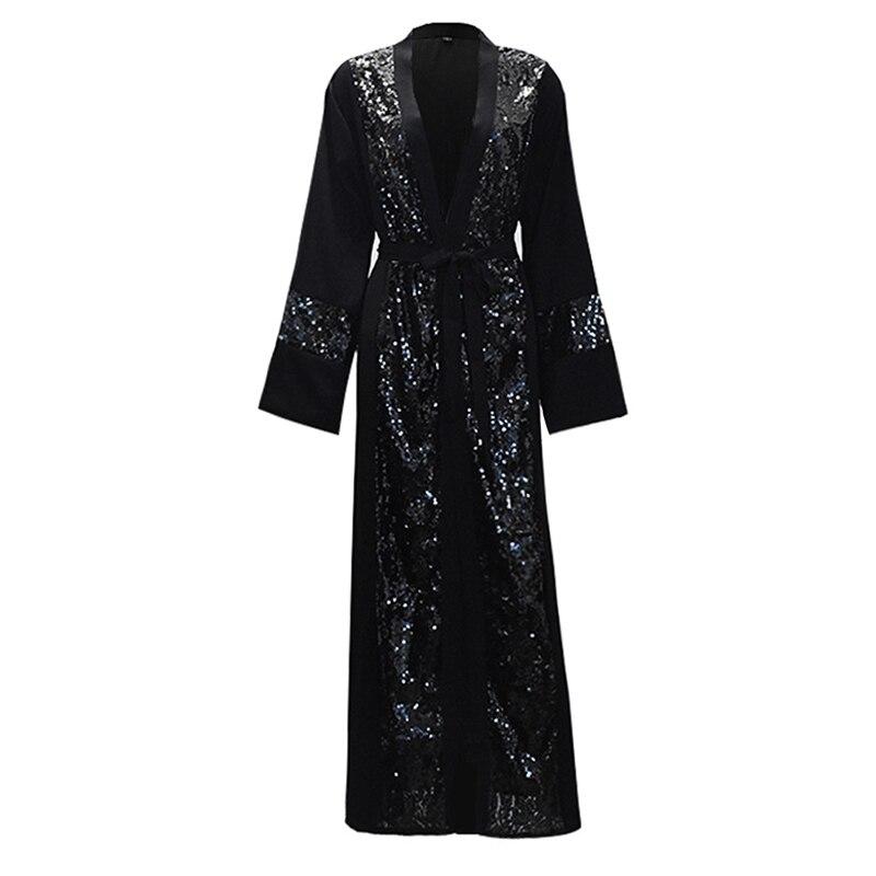 Grande taille femmes Kimonos Mujer Vetement Femme 2019 Long Kimono pailleté Cardigan Roupa Feminina vêtements mode coréenne vêtements