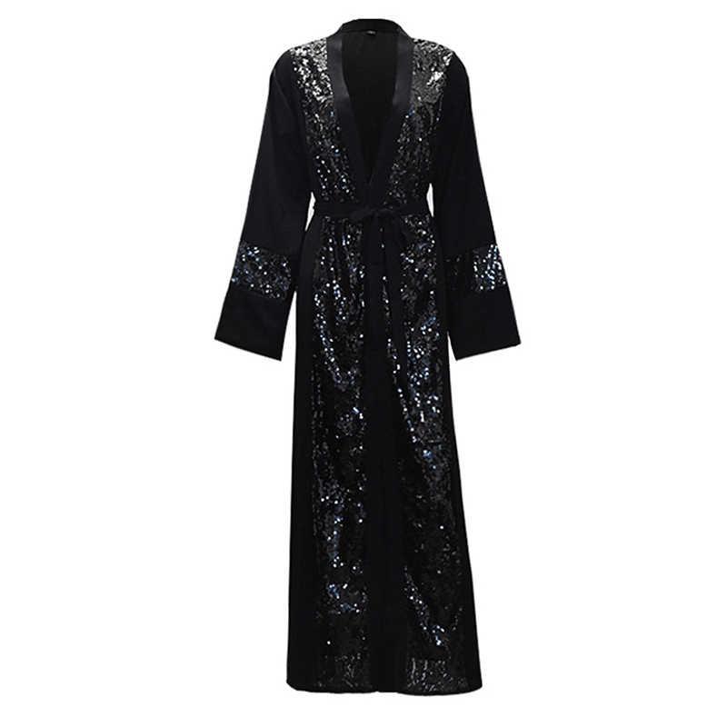 de7b011af Plus Size Women Kimonos Mujer Vetement Femme 2019 Long Sequined Kimono  Cardigan Roupa Feminina Clothes Korean