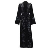 Plus Size Women Kimonos Mujer Vetement Femme 2019 Long Sequined Kimono Cardigan Roupa Feminina Clothes Korean Fashion Clothing