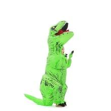 Unisex kid T-Rex inflatable costume Fancy dress Jumpsuit Cosplay Party Halloween Purim Christmas animal Dinosaur